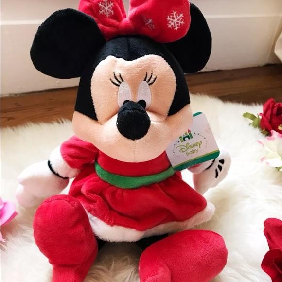 Christmas Minnie Mouse Plush.Disney Baby Christmas Minnie Mouse Plush Nwt